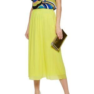 Emilio Pucci NWT $1080 neon midi skirt medium
